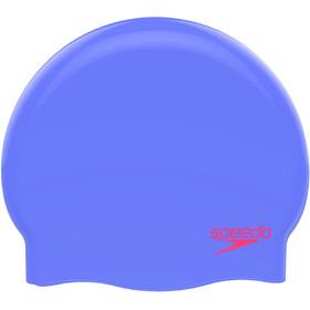 speedo Plain Moulded Gorro de silicona Niños, violeta